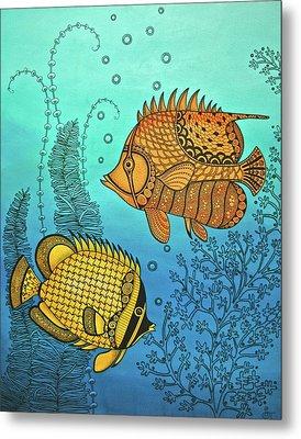 Dos Fishies Metal Print by Stephanie Troxell