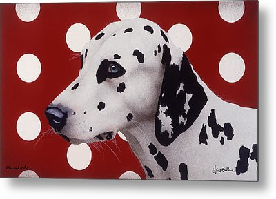 Metal Print featuring the painting Dots And Spots... by Will Bullas