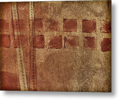 Dotted Squares Mixed Media 1 Metal Print