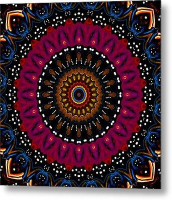 Dotted Wishes No. 5 Kaleidoscope Metal Print by Joy McKenzie