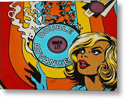 Double Advance - Pinball Metal Print by Colleen Kammerer