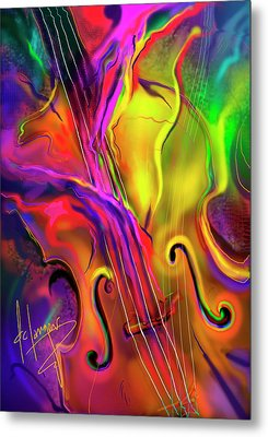 Double Bass Solo Metal Print by DC Langer