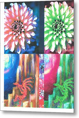 Double Color Visions Metal Print by Anne-Elizabeth Whiteway