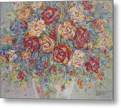 Metal Print featuring the painting Double Delight. by Natalie Holland