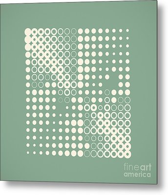 Double Dotted Metal Print by Igor Kislev