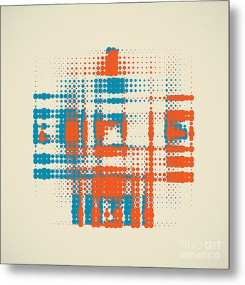 Double Halftone Metal Print by Igor Kislev