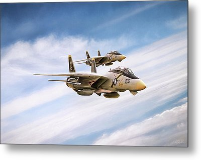 Metal Print featuring the digital art Double Nuts by Peter Chilelli