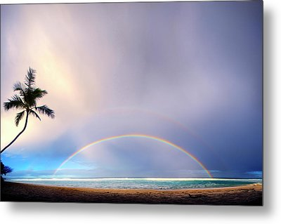 Double Overhead Metal Print by Sean Davey