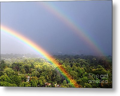 Double Rainbows Metal Print by Charline Xia