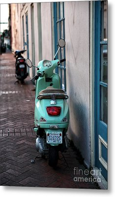 Double Scooters Metal Print by John Rizzuto