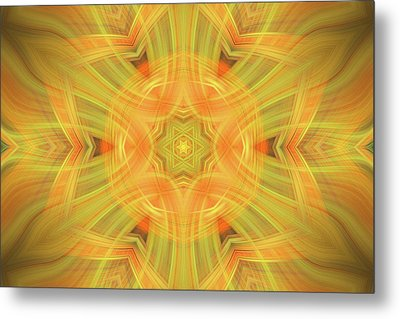 Double Star Abstract Metal Print by Linda Phelps