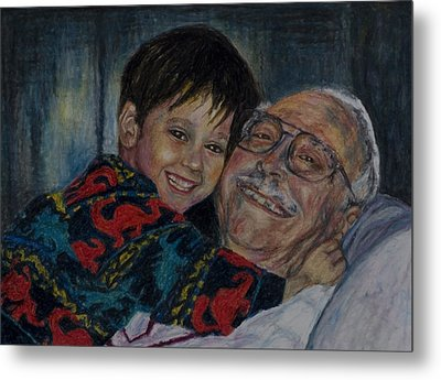 Doug And Papafred Metal Print by Laurie Tietjen