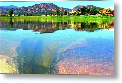 Metal Print featuring the photograph Doughnut Lake by Eric Dee
