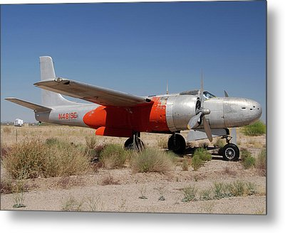 Douglas B-26b Invader N4819e Buckeye Arizona April 29 2011 Metal Print by Brian Lockett