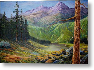 Metal Print featuring the painting Doug's  by Loxi Sibley
