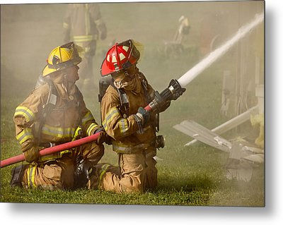 Dousing The Flames Metal Print