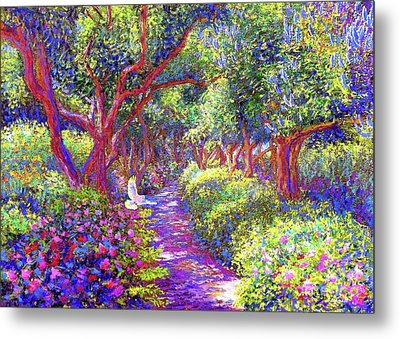 Dove And Healing Garden Metal Print by Jane Small