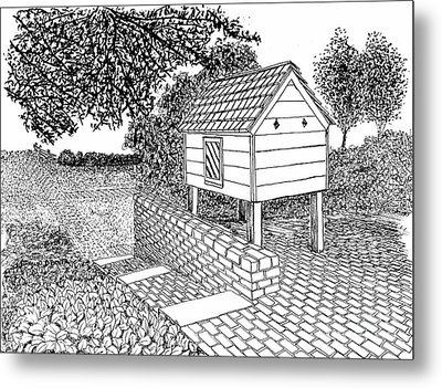 Dovecote, City Of Williamsburg Virginia Historic District Metal Print by Dawn Boyer