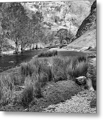 Dovedale, Peak District Uk Metal Print by John Edwards