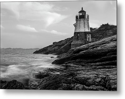Metal Print featuring the photograph Down Below Castle Hill Light by Andrew Pacheco