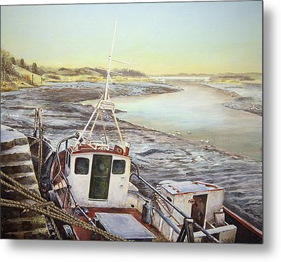 Down By The Docks Metal Print by Marty Garland