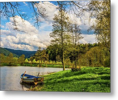 Down By The Lake  Metal Print by David Dehner