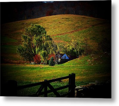 Down In The Valley Metal Print by Joyce Kimble Smith