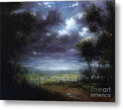 Down In To The Valley Metal Print by Larry Preston