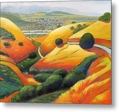 Metal Print featuring the painting Down Metcalf Road by Gary Coleman