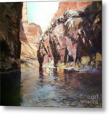 Down Stream On The Mighty Colorado River Metal Print