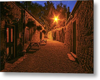 Down The Alley Metal Print