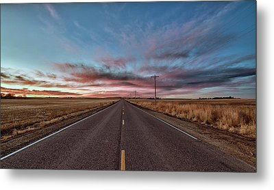Metal Print featuring the photograph Down The Road by Monte Stevens