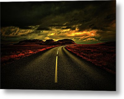 Metal Print featuring the photograph Down The Road by Scott Mahon