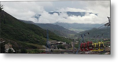 Down The Valley At Snowmass #3 Metal Print by Jerry Battle