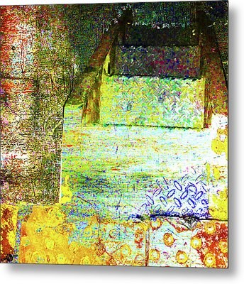 Metal Print featuring the mixed media Down by Tony Rubino