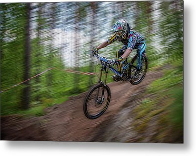 Downhill Race Metal Print