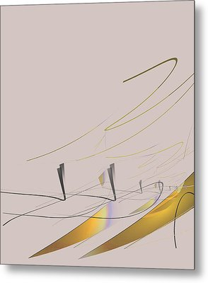 Downhill Racer Metal Print