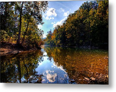 Metal Print featuring the photograph Downriver At Ozark Campground by Michael Dougherty