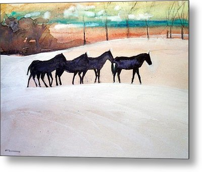 Downs Stables Metal Print