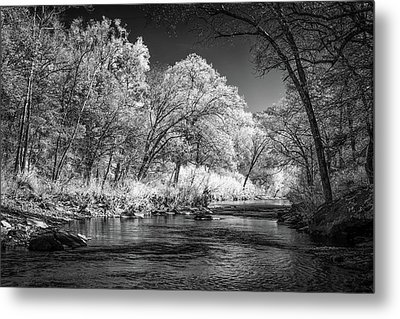 Metal Print featuring the photograph Downstream At Natural Dam by James Barber