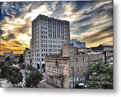 Downtown Appleton Skyline Metal Print