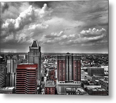 Downtown Baltimore City Metal Print