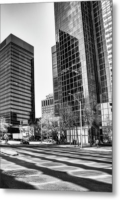 Metal Print featuring the photograph Downtown Bubble Reflections by Darcy Michaelchuk