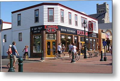 Metal Print featuring the painting Downtown Cape May New Jersey by Rod Jellison