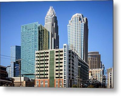 Downtown Charlotte North Carolina Buildings Metal Print by Paul Velgos