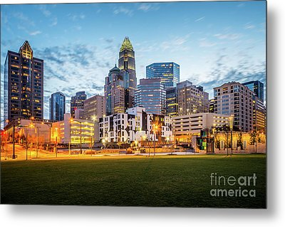 Downtown Charlotte Skyline At Dusk Metal Print