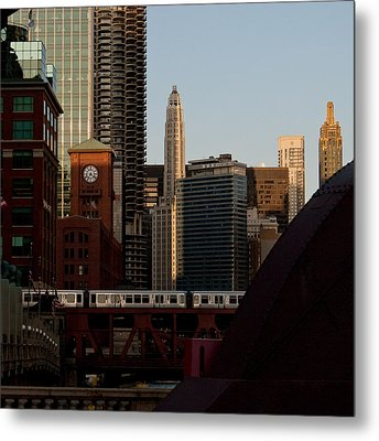 Metal Print featuring the photograph Downtown Chicago by Jane Melgaard
