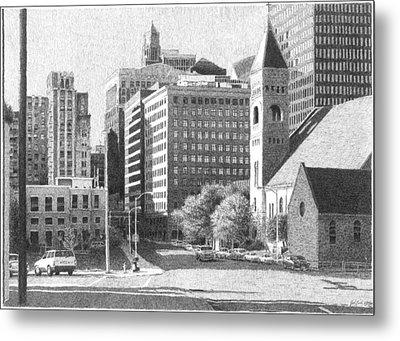 Downtown Des Moines Metal Print by Joel Lueck