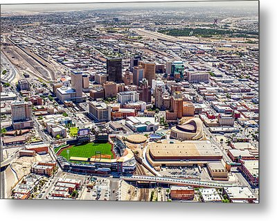 Downtown El Paso Metal Print