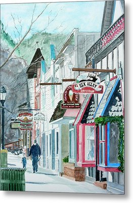 Downtown Estes Park Winter Metal Print